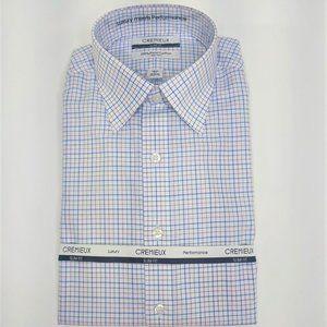 Cremieux White & Purple Cotton Dress Shirt NWT